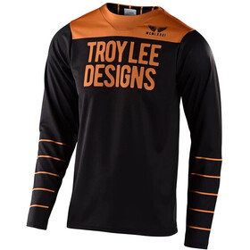 Troy Lee Designs Skyline Langarm Trikot pinstripe black/gold